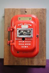 Vintage Samson Fire Alarm Pull Down Call Box Wall Mount.  #