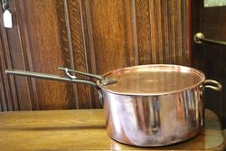 Large Early C19th Copper Saucepan + Lid #