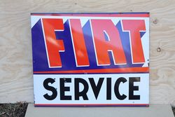 Fiat Service Enamel Advertising Sign #