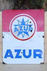 French Azur Enamel Advertising Sign #