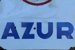 French Azur Enamel Advertising Sign