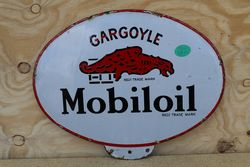 Gargoyle Mobiloil Double Sided Enamel Advertising Sign