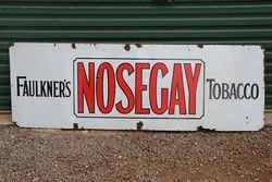 Faulkner's  Nosegay Tobacco Enamel Advertising Sign  #