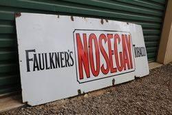 Faulknerand39s  Nosegay Tobacco Enamel Advertising Sign