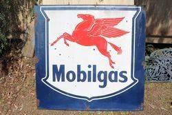 Mobilgas Enamel Advertising Sign #