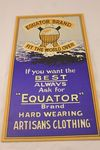 Equator Brand Clothing Ad Card