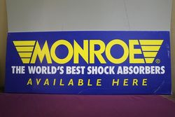 "Monroe ""The World's Best Shock Absorbers, Available Here"" Corrugat"