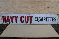 Navy Cut Cigarettes Enamel Advertising Sign