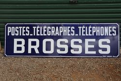 Postes - Telegraphes Brosses French Enamel Advertising Sign