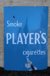 Player's Cigarettes Enamel Advertising Sign  #