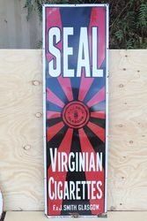 Seal Virginian Cigarettes F.&J.Smith Glasgow Advertising Sign  #