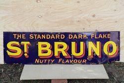 St Bruno Tobacco Enamel Advertising Sign