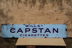 Will's Capstan Cigarettes Enamel Advertising Sign  #