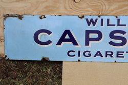 Willand39s Capstan Cigarettes Enamel Advertising Sign