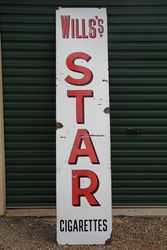 Willsand39s Star Cigarettes Enamel Advertising Sign