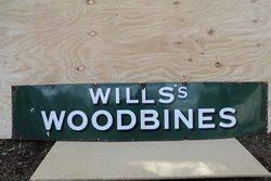 Wills's Woodbines Cigarette Enamel Advertising Sign #