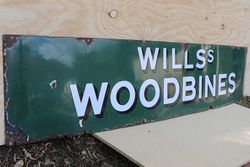Willsand39s Woodbines Cigarette Enamel Advertising Sign