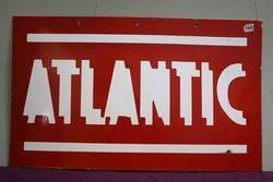 Atlantic  Double Sided Enamel Advertising sign #