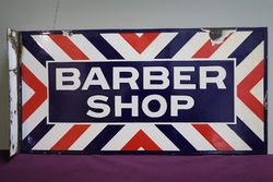 Barber Shop Double Sided Enamel Advertising Sign #