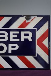 Barber Shop Double Sided Enamel Advertising Sign