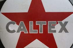Caltex Star Double Sided Enamel Advertising sign