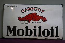 Gargoyle Mobiloil Enamel Advertising Sign  #