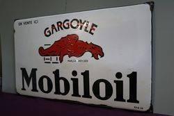 Gargoyle Mobiloil Enamel Advertising Sign