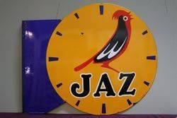 Jaz Clock Double Sided Enamel Advertising Sign #