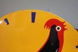 Jaz Clock Double Sided Enamel Advertising Sign