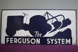 Ferguson System Tractor Double Sided Advertising Tin Sign #