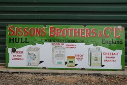Sissons Brothers & Co., Ltd Enamel Advertising Sign