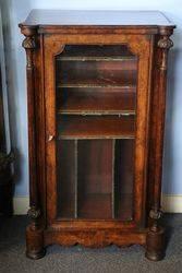 Mid Victorian Burr Walnut Music Cabinet