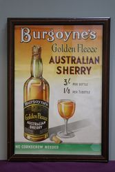 Burgoyne's Genuine Golden Fleece  Framed Advertising Poster #