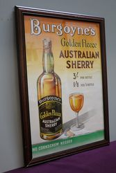 Burgoyneand39s Genuine Golden Fleece  Framed Advertising Poster