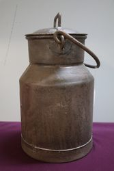 Antique Milk Churn + Lid, From Cornwall  #