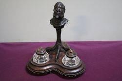 Antique Bronze Grotesque Gargoyle Desk set #