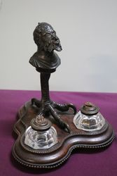 Antique Bronze Grotesque Gargoyle Desk set