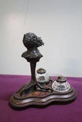 Antique Bronze Grotesque Gargoyle Desk set