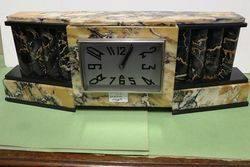 Art Deco Algerian Marble Mantle Clock.
