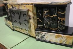 Art Deco Algerian Marble Mantle Clock