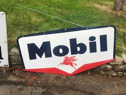 2019 Mobil Enamel Advertising Sign