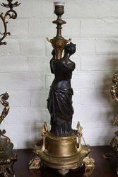 Set Of 2 Bronze Figure Lamps