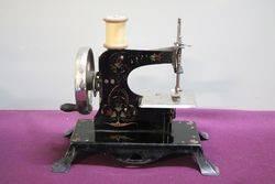 Antique Tin Plate Sewing Machine C1900 #