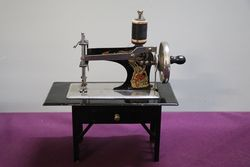"Rare ""Casige 204"" Table + Drawer Sewing Machine C1936 #"