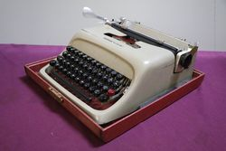 Vintage Olivetti Studio 44 Portable Typewriter Case + Key