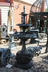 Cast Iron Victoria 3 Tier  Fountain