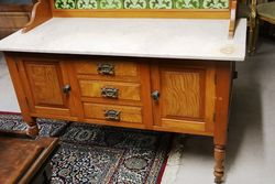 Antique Australian Marble Top Washstand