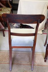 Antique Mahogany Set of 6 Spade Back Chairs