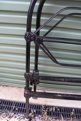 Antique Australian 4ft Single Iron Bed and Rails