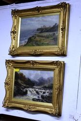 2019 Pair of C19th Gilt Framed Decorative Oil Paintings